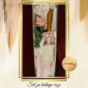 Set za krštenje S646-2 roza