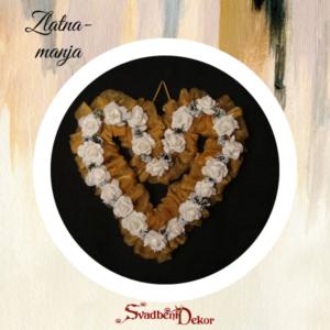 Dekorativno srce S8 zlatna manja