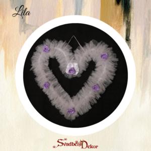 Dekorativno srce S6 lila