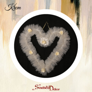 Dekorativno srce S6 krem