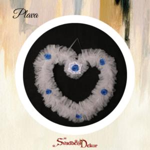 Dekorativno srce S6 plava