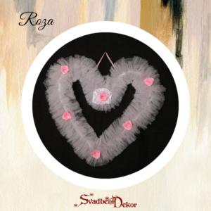 Dekorativno srce S6 roza