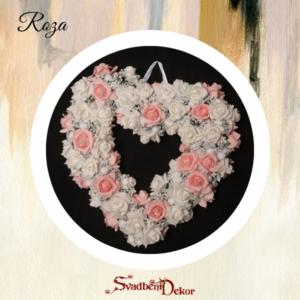 Dekorativno srce S12 roza