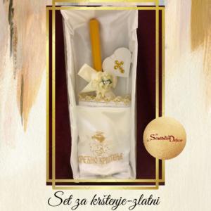 Set za krštenje S646-1 zlatna