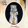 Deverski cvet S119-belo-zlatna