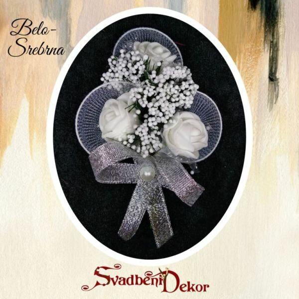 Deverski cvet S53 - belo-srebrna