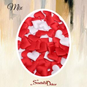 Srca latice S407 – mix bela+crvena