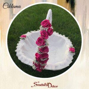 Korpa Š3 -ciklama satenska ružica