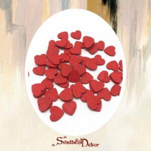 Drvena srca klot S349-1 crvena
