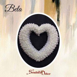 Dekorativno srce S371- bela
