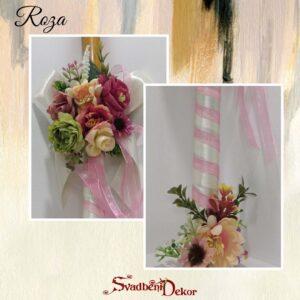 Dekorativna sveća S548-7-roza