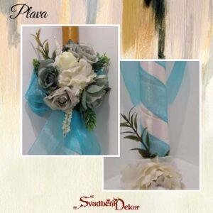 Dekorativna sveća S548-8-plava