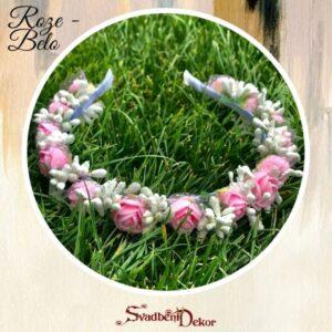 S324 – Rajf za kosu – roze-belo