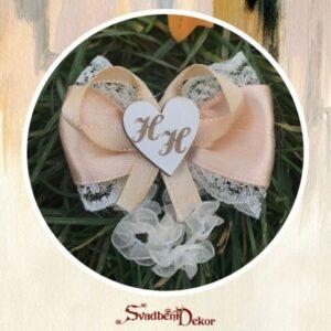 Korsaž S365-4 – srce sa gravurom