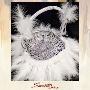 Dekorativna korpa sa perjem S620