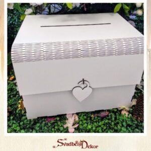 Drvena kutija bez gravure do 500 gostiju S621