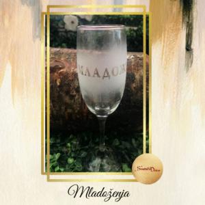 Čaša za šampanjac S361-Mladoženja