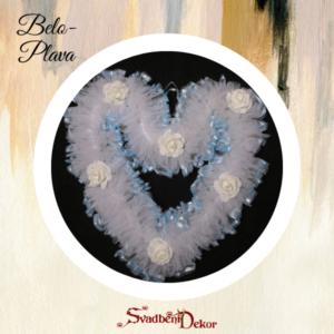 Dekorativno srce S7 belo-plava