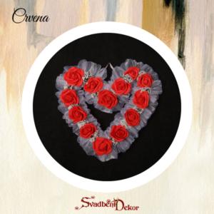 Dekorativno srce S8 crvena