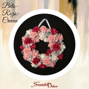 Dekorativni krug S175 belo-roza-crvena