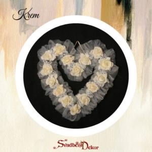 Dekorativno srce S8 krem