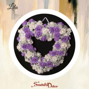 Dekorativno srce S12 lila