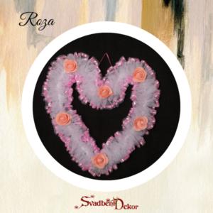 Dekorativno srce S7 roza