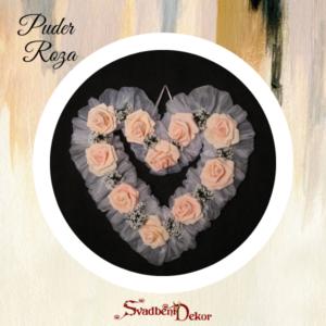Dekorativno srce S8 puder roza