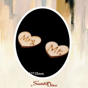 Drveno srce Mr.Mrs S439
