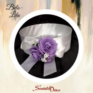 Sito-velika ruža S157 belo-lila