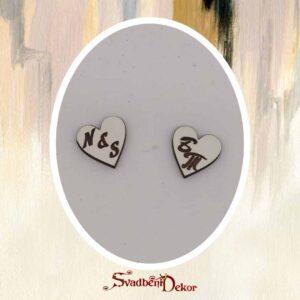 Drvena srca gravura Š351-2cm