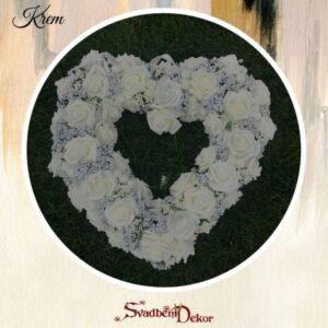 Dekorativno srce S12 krem