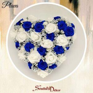 Dekorativno srce S131 plava