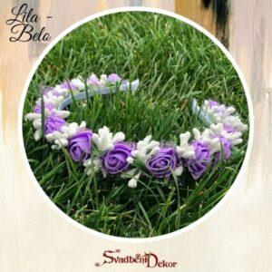 S324 – Rajf za kosu – lila-belo