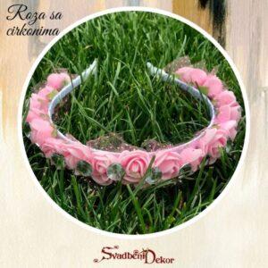 S324 – Rajf za kosu – roza sa cirkonima