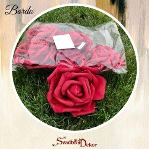 S466 – gumirane ružice 7kom paket – bordo, roza
