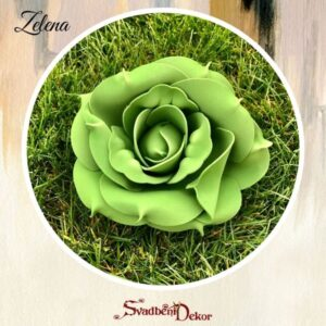 S467 – gumirane ruže na komad bela, crvena, zelena, teget