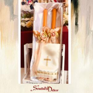 Set za venčanje S666 zlatna i srebrna