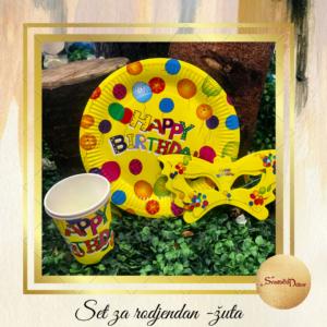 Set za dečije rodjendane-žuti S674-4